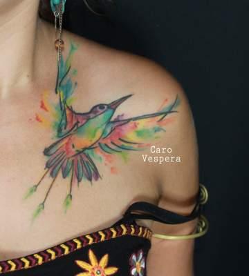 Colibri watercolor - Caro Vespera