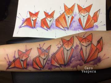 Famille renards - Caro Vespera