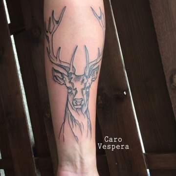 tatouage aquarelle watercolortattoo à Montpellier- Caro Vespera