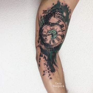 watercolortattoo tatouage aquarelle Caro Vespera Montpellier